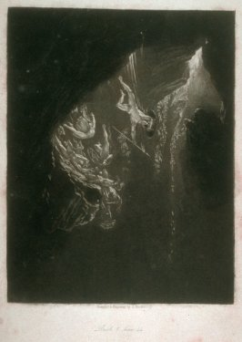 [The Fall of the Rebel Angels], Book 1 line 44, bound at p. 3 in the book, The Paradise Lost of Milton (London: Charles Tilt, 1838)
