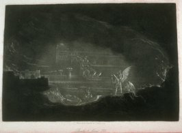 [Pandemonium], Book 1 line 710, bound at p. 25 in the book, The Paradise Lost of Milton (London: Charles Tilt, 1838)