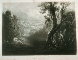 [Satan contemplating Adam and Eve in Paradise], Book 4 line 502, bound at p.109 in the book, The Paradise Lost of Milton (London: Charles Tilt, 1838)9