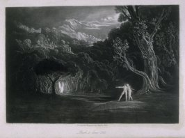 [Paradise—with the Approach of the Archangel Raphael], Book 5 line 308, bound at p.139 in the book, The Paradise Lost of Milton (London: Charles Tilt, 1838)