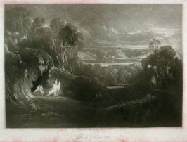 [Raphel Conversing with Adam and Eve], Book 5 line 519, bound at p.147 in the book, The Paradise Lost of Milton (London: Charles Tilt, 1838)