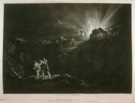 [Approach of the Archangel Michael], Book 11, line 296, bound at p. 327 in the book, The Paradise Lost of Milton (London: Charles Tilt, 1838)