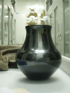 Blackware long-necked jar