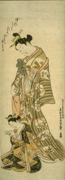 An Oiran and a Yopung Kamuro