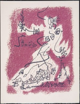 """Le départ"" by André Masson, pg. 17, in the book Souvenirs et portraits d'artistes (Reminiscences and Portraits of Artists) by Fernand Mourlot (Paris: Alain c. Mazo, 1972 and in New York: Léon Amiel, 1972)."