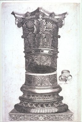 Base and Corinthian Capital of a Roman Column, with Ram's Heads