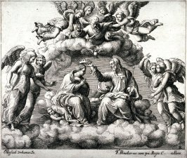 copy in reverse after the engraving by the Master of the Die, The Trinity