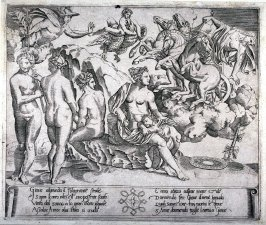 Jupiter and Ganymede, after the engraving by the Master of the Die after Raphael