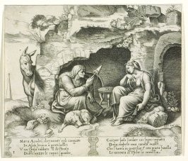 Narra Apulcó, chelmentr' egli cangiato . . . (Apuleius Changed into a Donkey) , pl. 1, from the Series: The History of Psyche