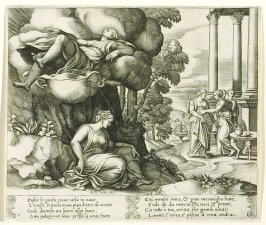 Zephir le gonfia, come uela in nane, . . . (Zephyr Carrying Psyche Off to an Enchanted Palace), pl. 6, from the Series: The History of Psyche