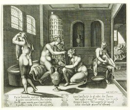 Fa la fancinlla quel che deno l'homme, . . . (Psyche Served in Her Bath by Nymphs She Cannot See, pl. 7, from the Series: The History of Psyche