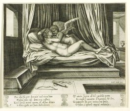 Poi che fú per dormir, nel ricco letto . . .(Cupid in Psyche's Arms) , pl. 9, from the Series: The History of Psyche