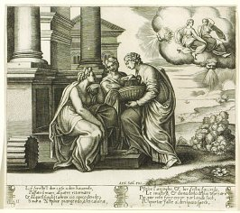 Lé sorell'l dur caso udito hauendo, . . .(Psyche Gives Presents to her Sisters) , pl. 11, from the Series: The History of Psyche