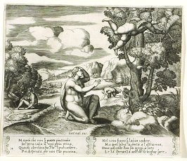 Ma poi che non si puote piu tenére . . . (Cupid Fleeing From Psyche) , pl. 14, from the Series: The History of Psyche