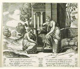 Psiche cercando del marito l' orme . . . (Ceres Refusing Any Assistance to Psyche) , pl. 19, from the Series: The History of Psyche