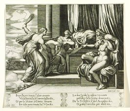 Inque sto, per trouar l'alato amante . . . (Sorrow and Pain Punishing Psyche) , pl. 21, from the Series: The History of Psyche