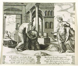 Indi meschiate narie biade, & poi . . . (Venus Ordering Psyche to Sort a Heap of Grain), pl. 22, from the Series: The History of Psyche