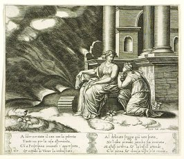 Addormentato il can con la polenta . . . (Proserpina Gives Psyche the Box of Beauty) , pl. 27, from the Series: The History of Psyche