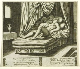 Dópo lacena i disiosi amanti . . . (Cupid and Psyche Together in the Nuptial Bed) , pl. 32, from the Series: The History of Psyche
