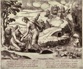 Venus Ordering Psyche to Seek Water from a Fountain Guarded by Dragons, Proof from the series the Fable of Psyche