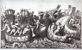 Naval Battle, after Giulio Romano or Polidoro da Caravaggio(?)