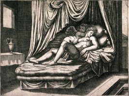 Cupid and Psyche Together in the Nuptial Bed, after Michael Coxie or Raphael, from the series The Fable of Psyche