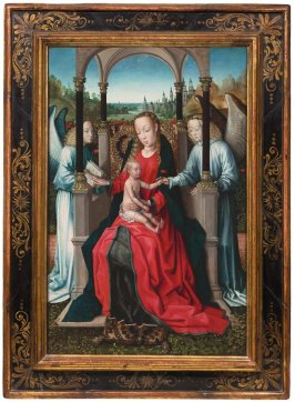 Virgin and Child Enthroned with Angels