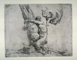 Cupid Whipping a Satyr