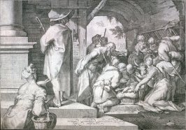Copy in reverse of The Adoration of the Shepherds