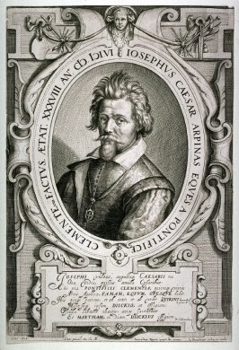 Portrait of Cavalier Giuseppe Cesare d'Arpino, (after Everard Quirinus)