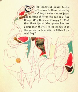 To the jaundiced honey tastes bitter..., page preceding issue no. 6 in the book, Philopolis, A Monthly Magazine for Those Who Care (San Francisco: 1908), vol. 3