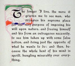 The longer I live, the more it grieves me..., page preceding issue no. 7 in the book, Philopolis, A Monthly Magazine for Those Who Care (San Francisco: 1908), vol. 3