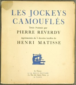 Les Jockeys camouflés by Pierre Reverdy (Paris: A la Belle Édition, 1918)
