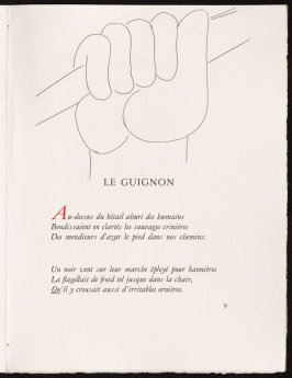 Untitled, pg. 9, in the book Poésies by Stéphane Mallarmé (Lausanne: Albert Skira et Cie, 1932).