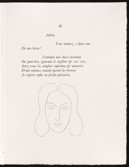 Untitled, pg. 67, in the book Poésies by Stéphane Mallarmé (Lausanne: Albert Skira et Cie, 1932).