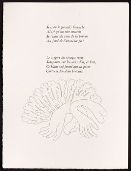 Untitled, pg. 100, in the book Poésies by Stéphane Mallarmé (Lausanne: Albert Skira et Cie, 1932).