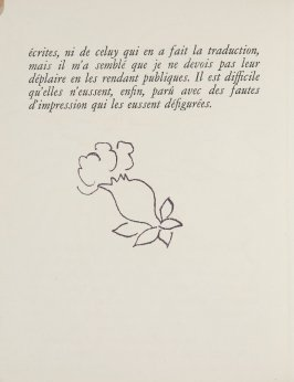 Untitled, ornament, in the book Lettres (Lettres Portugaises) by Marianna Alcaforado (Paris: Tériade Éditeur, 1946)