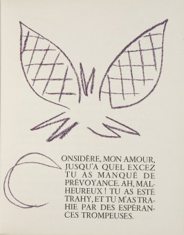 Untitled, ornament/letter, pg. 15, in the book Lettres (Lettres Portugaises) by Marianna Alcaforado (Paris: Tériade Éditeur, 1946)