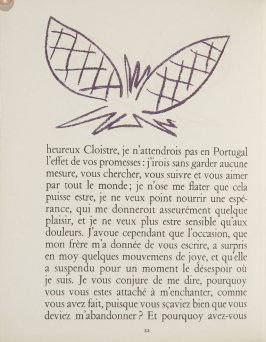 Untitled, ornament, pg. 22, in the book Lettres (Lettres Portugaises) by Marianna Alcaforado (Paris: Tériade Éditeur, 1946)