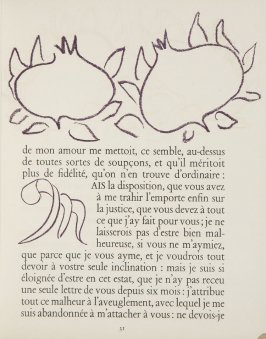 Untitled, ornament/letter, pg. 31, in the book Lettres (Lettres Portugaises) by Marianna Alcaforado (Paris: Tériade Éditeur, 1946)