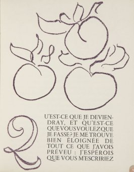 Untitled, ornament/letter, pg. 43, in the book Lettres (Lettres Portugaises) by Marianna Alcaforado (Paris: Tériade Éditeur, 1946)