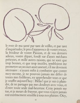 Untitled, ornament, pg. 45, in the book Lettres (Lettres Portugaises) by Marianna Alcaforado (Paris: Tériade Éditeur, 1946)