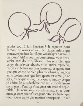 Untitled, ornament, pg. 47, in the book Lettres (Lettres Portugaises) by Marianna Alcaforado (Paris: Tériade Éditeur, 1946)