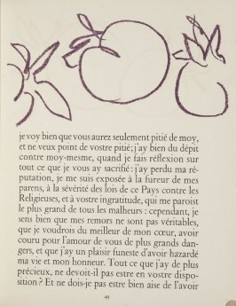 Untitled, ornament, pg. 49, in the book Lettres (Lettres Portugaises) by Marianna Alcaforado (Paris: Tériade Éditeur, 1946)