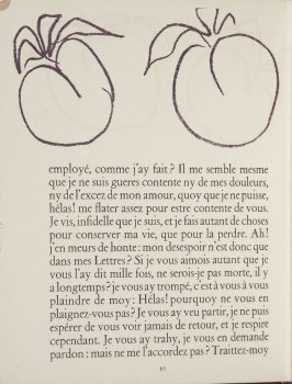 Untitled, ornament, pg. 50, in the book Lettres (Lettres Portugaises) by Marianna Alcaforado (Paris: Tériade Éditeur, 1946)