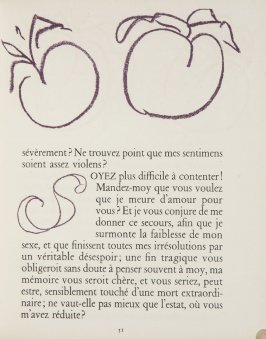 Untitled, ornament/letter, pg. 51, in the book Lettres (Lettres Portugaises) by Marianna Alcaforado (Paris: Tériade Éditeur, 1946)