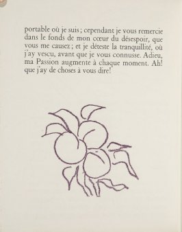 Untitled, ornament, pg. 54, in the book Lettres (Lettres Portugaises) by Marianna Alcaforado (Paris: Tériade Éditeur, 1946)