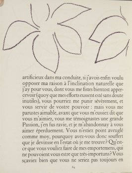 Untitled, ornament, pg. 64, in the book Lettres (Lettres Portugaises) by Marianna Alcaforado (Paris: Tériade Éditeur, 1946)
