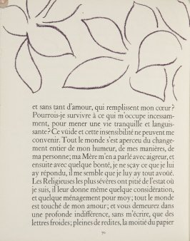 Untitled, ornament, pg. 70, in the book Lettres (Lettres Portugaises) by Marianna Alcaforado (Paris: Tériade Éditeur, 1946)