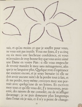 Untitled, ornament, pg. 77, in the book Lettres (Lettres Portugaises) by Marianna Alcaforado (Paris: Tériade Éditeur, 1946)